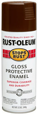 Rust-Oleum® 7775-830 Stops Rust® Protective Enamel Spray, 12 Oz, Leather Brown