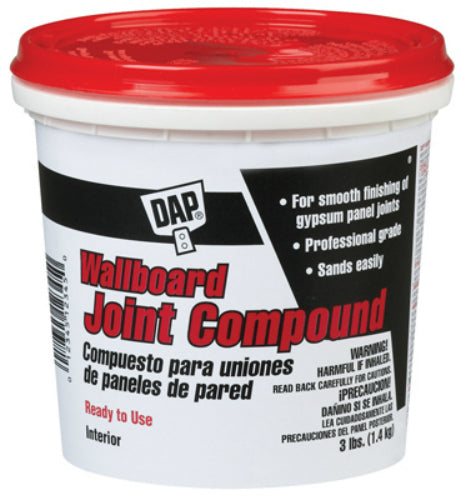 Dap® 10100 Ready-To-Use Wallboard Joint Compound, 3 Lbs