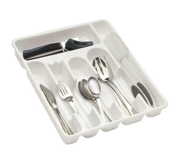 Rubbermaid® 2925-RD-BISQUE Plastic Cutlery Tray, Large, Bisque