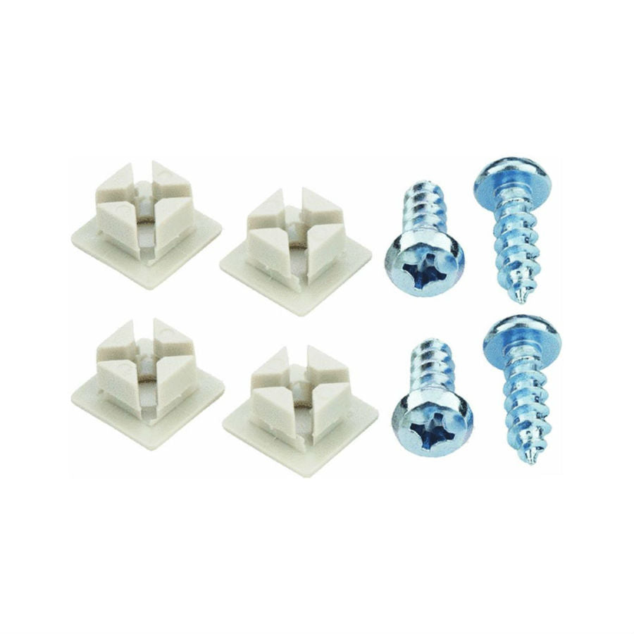 Custom Accessories 93322 Deluxe License Plate Fastener, White, 4-Pack