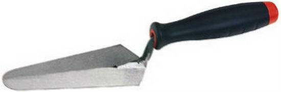 "Goldblatt® G09354 Cross Joint Trowel, 4-3/4"", High Quality Carbon Steel Blade"