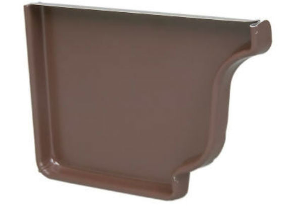 "Amerimax 2520519 Aluminum Left End Cap, 5"", Brown"