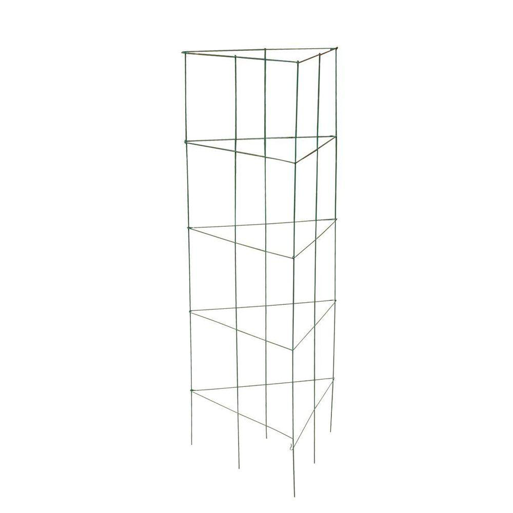"Gilbert & Bennett® 901284A PVC Coated Tri-Fold Tomato Tower, Green, 47"" x 54"""