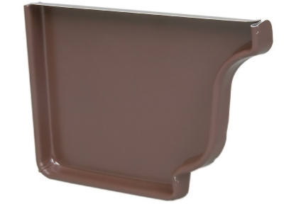 "Amerimax 2520619 Aluminum Right End Cap, 5"", Brown"