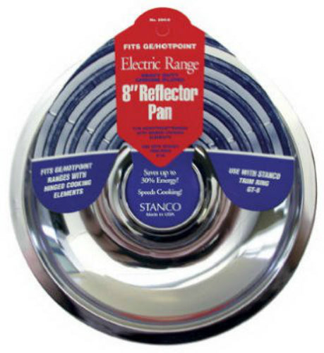 Stanco 500-8 Reflector Pan for Stoves, Chrome Plated Steel, 8""