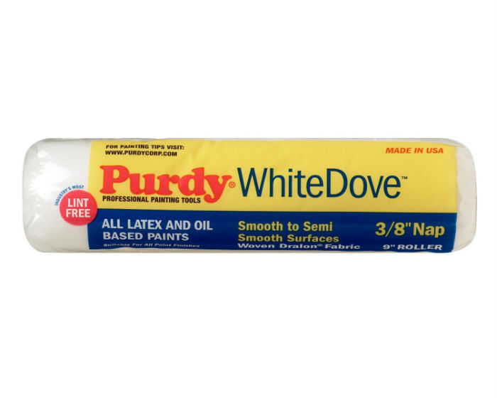 "Purdy® 144670092 White Dove™ Roller Cover, 9"", 3/8"" Nap, 1-1/2"" Core"