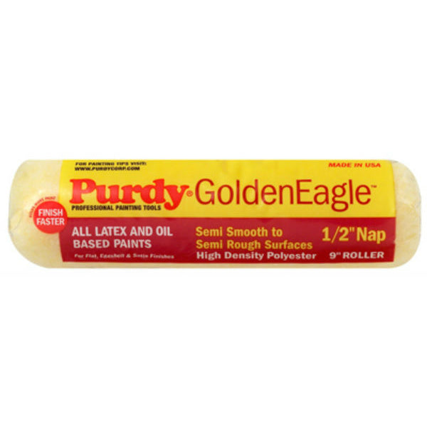"Purdy® 144608093 Golden Eagle™ Roller Cover, 9"", 1/2"" Nap, 1-1/2"" Core"