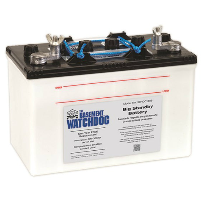 Basement Watchdog 30HDC140S Deep Cycle Big Standby Battery, 7.5 Hour