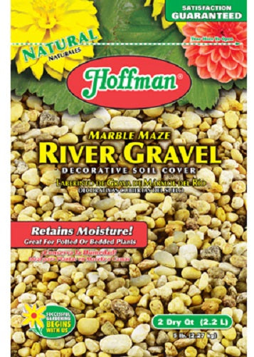 Hoffman® 14202 Marble Maze River Gravel Decorative Soil Cover, 2 Qt