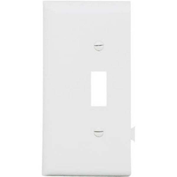 Pass & Seymour PJSE1W Sectional Nylon Wall Plate, White