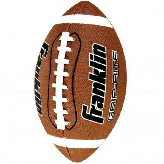 Franklin 5010 GRIP-RITE® Junior Size Rubber Football, Synthetic Leather