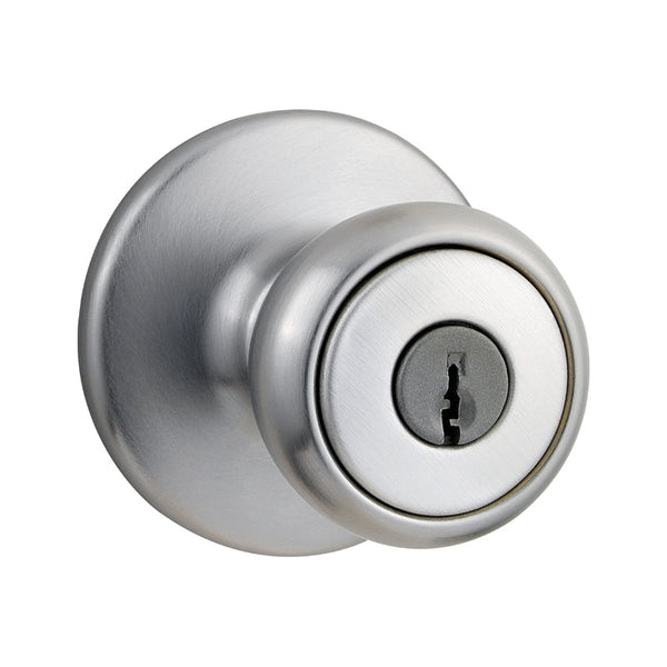 Kwikset® 400T-26D-SMT-6AL-RCS Tylo Entry Lockset with Smart Key, Satin Chrome