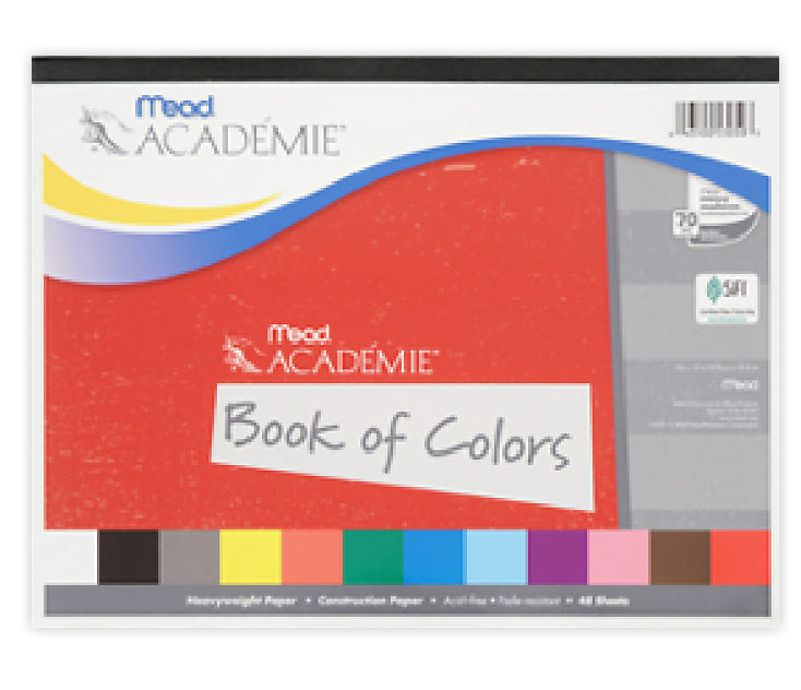 "Mead® 53050 Academie® Book of Colors, 12"" x 9"", 48 Sheets"