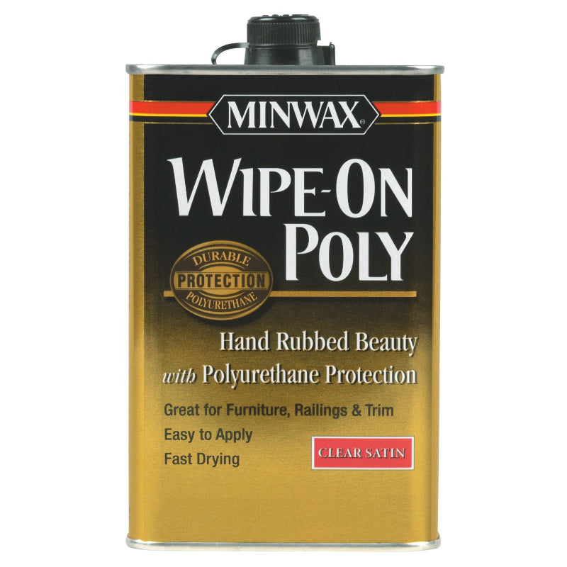 Minwax® 40910 Wipe-On Poly Durable Finish, Clear Satin, 1 Pt