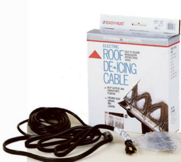 Easy Heat® ADKS-400 Electric Roof & Gutter De-Icing Cable, 400W, 80'