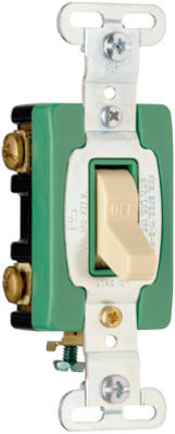 Pass & Seymour Industrial Heavy Duty Double Pole Toggle Switch, 30A, Ivory