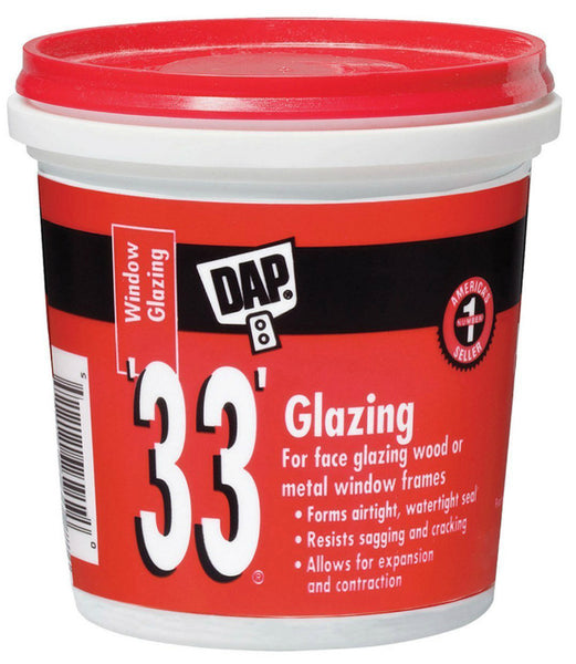 Dap® 12121 Glazing Compound, 1 Pint, White, #33