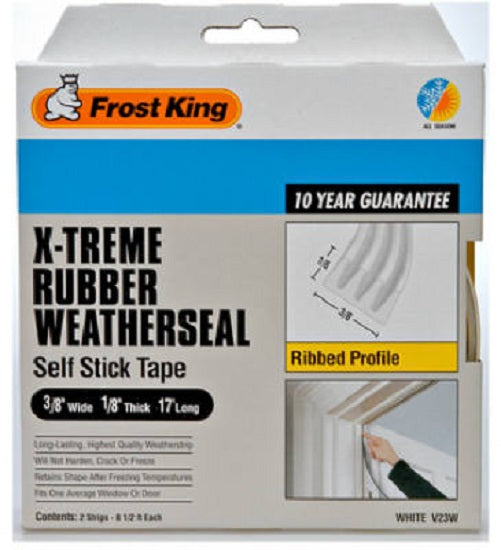 "Frost King V23WA Sub Zero Premium Weather-Strip, White, 3/8"" x 1/8"""