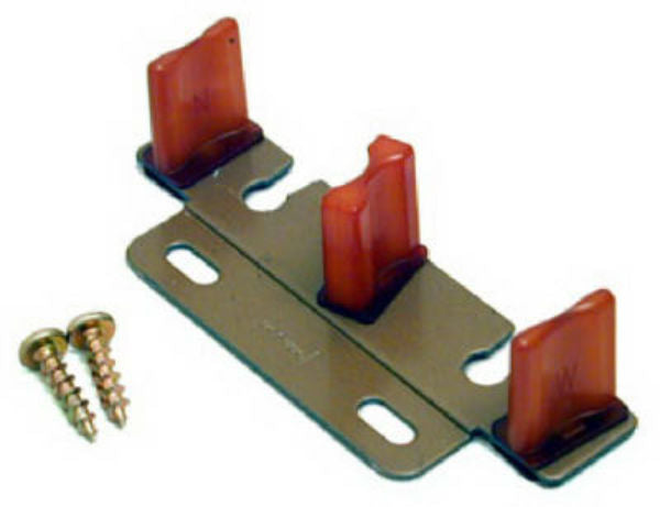 Johnson Hardware® 2135-PPK1 Bypass Door Adjustable Guide, Wood Tone Finish