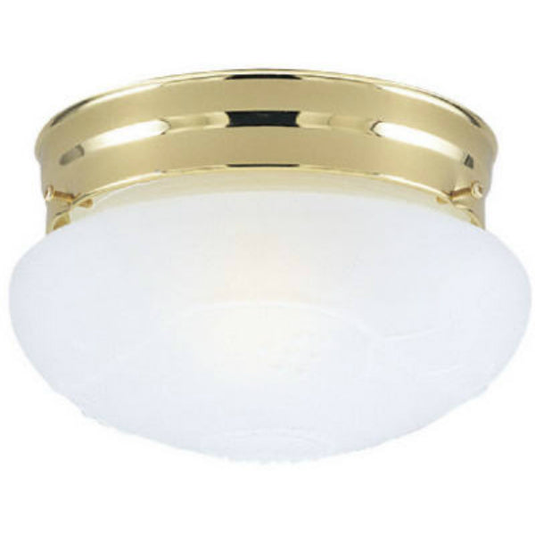 Westinghouse 66678 1-Light Interior Flush-Mount Ceiling Fixture, Polished Brass