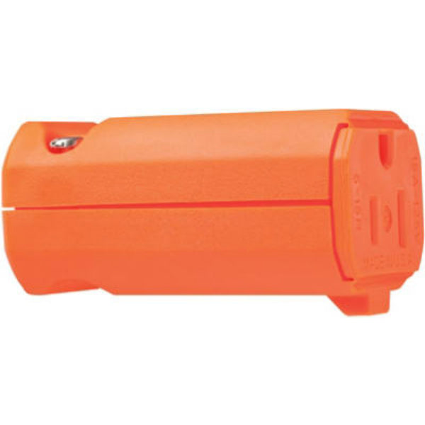 Pass & Seymour PS5969OCC20 Hi-Vis 2-Pole 3-Wire Grounding Connector, 15A, Orange