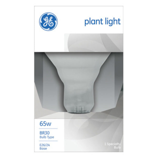 GE Lighting 20996 Medium Base BR30 Reflector Plant Floodlight Bulb, 65W, 120V