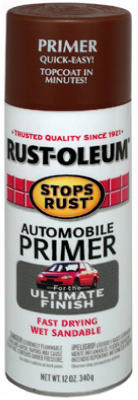 Rust-Oleum® Stops Rust® 2067-830 Automotive Primer Spray, 12 Oz, Flat Red