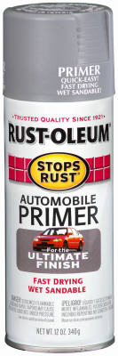 Rust-Oleum® Stops Rust® 2081-830 Automotive Primer Spray, 12 Oz, Light Gray