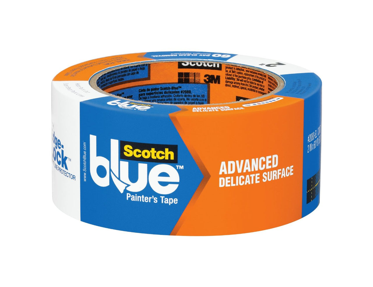 "ScotchBlue 2080EL-48N Walls+Wood Floors Painter's Tape w/Edge-Lock, 1.88""x60 Yd"