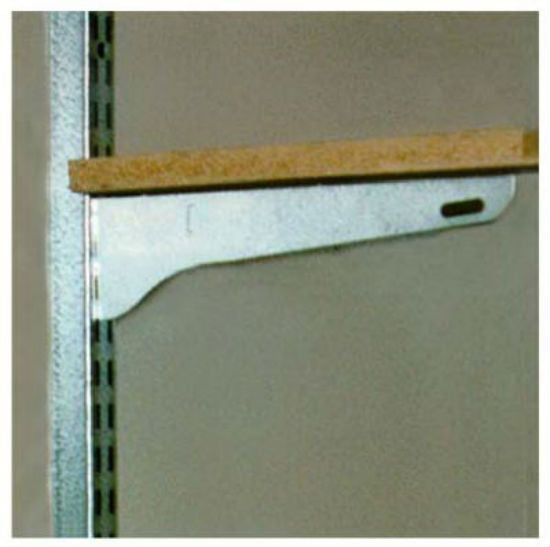 John Sterling™ BK-0101 Single Shelf Bracket, Galvanized Steel, 11""