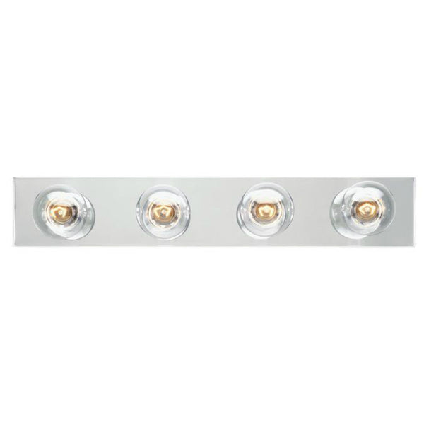Westinghouse 66411 Four-Light Interior Bath Bar, Chrome Finish