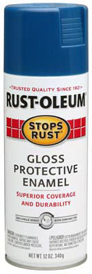 Rust-Oleum® 7727-830 Stops Rust® Protective Enamel Spray, 12 Oz, Royal Blue
