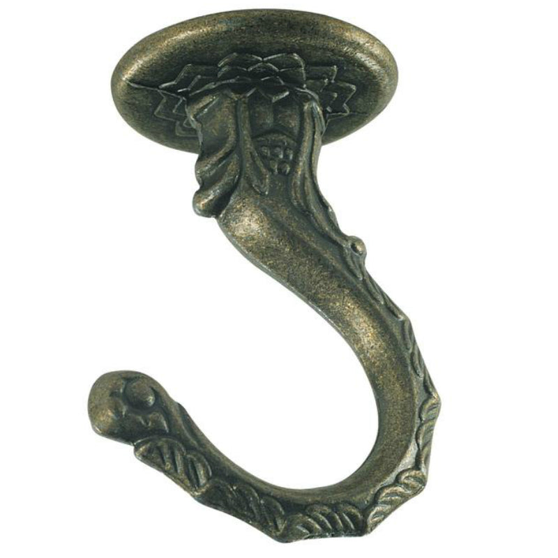 "Westinghouse 70441 Large Swag Hook, 2-1/2"", Antique Brass Finish"