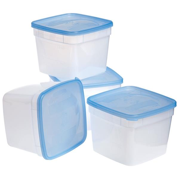 Arrow Plastic 00043 Stor-Keeper Freezer & Storage Container, 1.5 Pint, 4-Pack