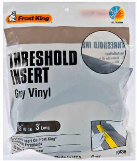 "Frost King RV/36H Replacement Vinyl Insert, 36"", Gray"