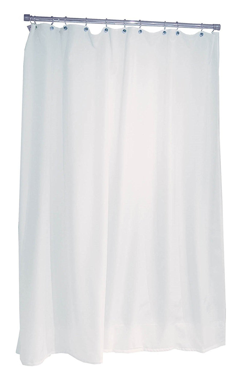 "Ex-Cell 1ME-040O0-0920-100 Fabric Shower Curtain or Liner, White, 70"" x 71"""