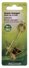 Hillman Fasteners 122184 Quick Hanger, 40 lb, Pack/4