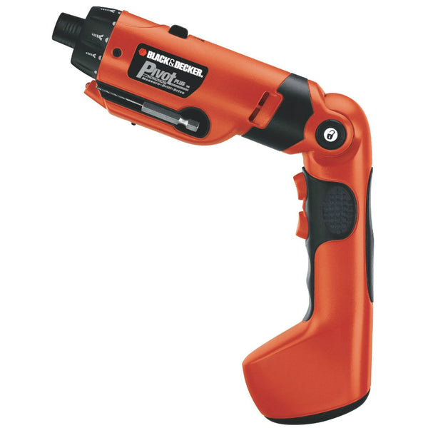 Black & Decker® PD600 PivotPlus™ High Performance Rechargeable Screwdriver, 6V