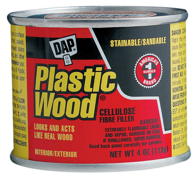 Dap® 21404 Plastic Wood® Solvent Professional Wood Filler, 4 Oz, Pine