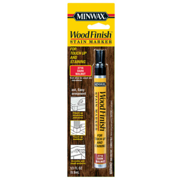 Minwax® 63487 Wood Finish™ Stain Marker, Dark Walnut, 0.33 Oz