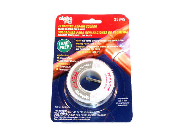 "Alpha Fry AM33945 Lead-Free Plumbing Solder Kit, 0.125"" Diameter Spool, 3 Oz"