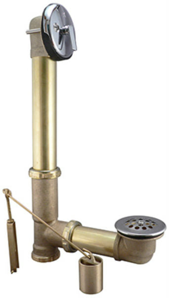Keeney® 610RB Lift & Turn Type Tub Drain Assembly, Brass