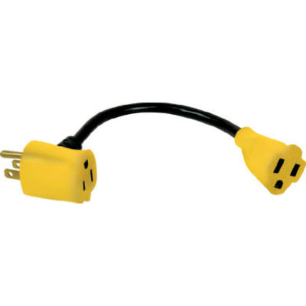 "Master Electrician KAB-3P Pigtail Plus Adapter with 6"" Cord"