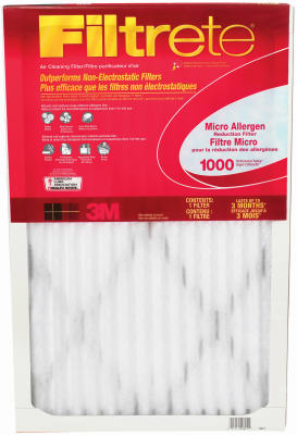 "Filtrete 9801DC-6 Micro Allergen Defense Air Filter, 16"" x 25"" x 1"", Red"