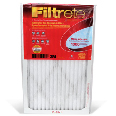 "Filtrete 9806-6 Micro Allergen Defense Air Filter, 15"" x 20"" x 1"", Red"