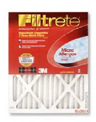 "Filtrete 9807-6 Micro Allergen Defense Air Filter, 10"" x 20"" x 1"", Red"