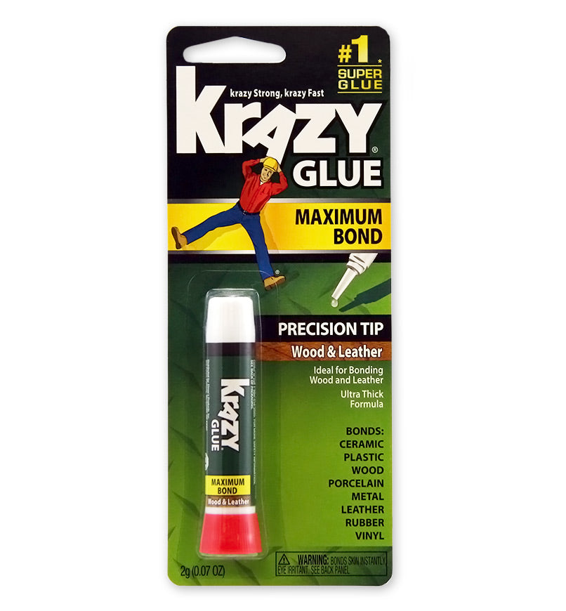 Krazy Glue® KG82148R Maximum Bond Glue for Wood & Leather, 2-Gram