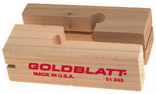 Goldblatt® G01243 Wood Line Blocks, Pair