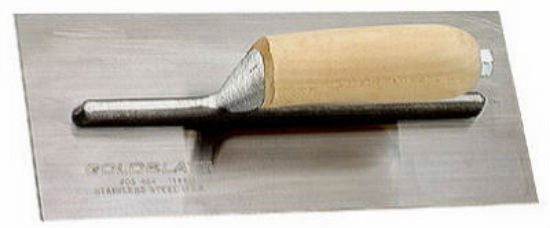 Goldblatt® G03463 Flat Finishing Trowel, 12'' x 5'', Stainless Steel