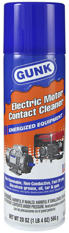 Gunk® NM1 Energized Electric Motor Contact Cleaner, 20 Oz